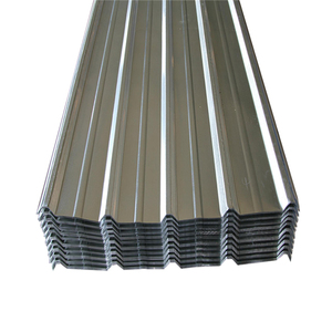 Galvanized corrugated steel plate.